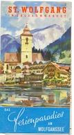 Brochure Dépliant Faltblatt Toerisme Tourisme - St Wolfgang Im Salzkammergut - Ca 1955 - Toeristische Brochures
