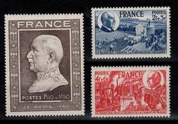 YV 606 à 608 N** Anniversaire Du Marechal Petain Cote 6,20 Euros - Frankrijk