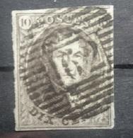 BELGIE  1861   Nr. 10   P 62  Huy  Nipa 150  Centrale Stempel / Gerand En Gebuur      CW 10,00 - 1858-1862 Medaillons (9/12)