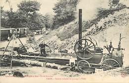 D-18-1468 : VRON. SCIERIE VOLANTE DE PASSAGE A VRON. SCIERIE AMBULANTE. METIER DU BOIS. - Frankrijk