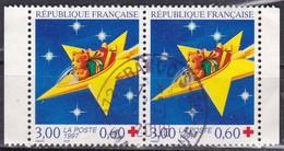 Francia, 1997 - 3fr Christmas New Year, Coppia - Nr.B683a Usato° - Frankrijk