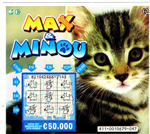 Billet De Loterie Belge-chaton -cat -kleine Katze -poes - Gatto - Loterijbiljetten