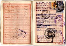 Passeport 1947_Charles Brusa_consulat Italie_100 F Affaires étrangères_fiscaux_Marca Consolare_Republica Italiana - Vieux Papiers