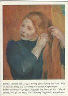 Berthe Morisot - Painting: Young Girl Plaiting Her Hair. Used In Sweden 1968    # 07901 - Paintings