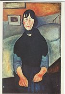 Modigliani  - Painting. Woman Of The People.  Used In Denmark 1987  # 07903 - Paintings