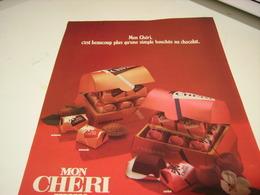 ANCIENNE AFFICHE PUBLICITE CHOCOLAT MON CHERI DE FERRERO 1979 - Posters