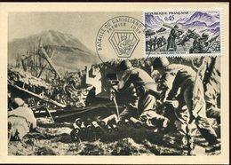 37134 France, Maximum,  1969  Battle Of Garigliano, Battaglia Garigliano, Monte Cassino  37134 - Seconda Guerra Mondiale