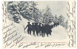 Cpa Précurseur - Environs De Briançon - Chasseurs Alpins En Route Pour Le Mont-Genèvre - France