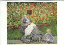 Painting: Claude Monet. Camille Monet And Child In A Garden. Used Sweden 1986. # 07910 - Paintings