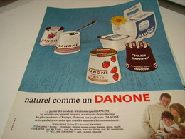 ANCIENNE PUBLICITE DESSERT NATUREL COMME DANONE 1965 - Posters