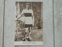ANDRE LEDUCQ CYCLISTE AMATEUR CHAMPION DE FRANCE SUR ROUTE 1924 - Ciclismo