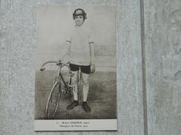 ROBERT GRASSIN CYCLISTE STAYER CHAMPION DE FRANCE 1924 - Cyclisme