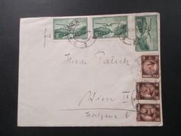 Rumänien Brief Nach Wien Mich 3x Nr. 419 Freimarken Flugzeuge Als MiF - Covers & Documents