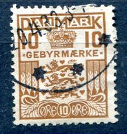 DANEMARK TIMBRES TAXE  YT N° 21 (4) - Port Dû (Taxe)