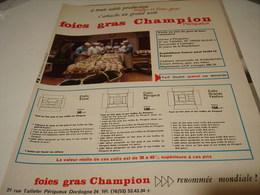ANCIENNE PUBLICITE FOIES GRAS CHAMPION PERIGUEUX 1965 - Camions