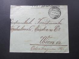 Königreich SHS / Jugoslawien / Kroatien Teil Eines Briefes Mit Rückseitig 12 Marken Frankiert! Stempel Dubrovnik - Croatia