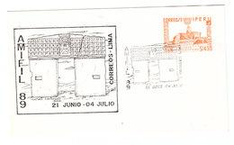 Peru AMIFIL 89 PHILATELIC EXHIBITION EXPO EXPOSITION FDC 1989 - Philatelic Exhibitions