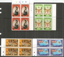 10 Ième Anniversaire De L'Independance, 4 Blocs De 4 Neufs ** Bord De Feuille, Côte 15,00 Euro - Fidji (1970-...)