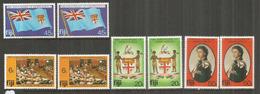10 Ième Anniversaire De L'Independance, 2 Séries Complètes Neuves **  Côte 7,50 Euro - Fidji (1970-...)