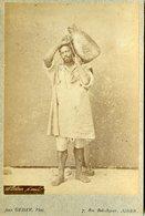 ALGERIE -  Porteur D'Eau - BISKRI - Carte CABINET - Photographe Jean GEISER - Circa 1880 - Afrique