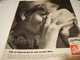 ANCIENNE AFFICHE  PUBLICITE  LAIT  GLORIA 1965 - Posters