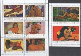MANAMA Tableaux, IMPRESSIONNISTES, Painting Michel 875/82 ** MNH Gauguin - Impressionisme