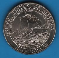 USA HALF 1/2 DOLLAR 1992 D KM# 237  500TH ANNIV. OF COLUMBUS DISCOVERY - N. Commemoratives
