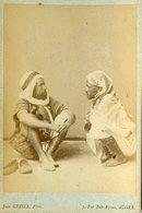 ALGERIE -  Mezabites- Habitants Du Sud  - Carte CABINET - Photographe Jean GEISER - Circa 1880 - Afrique
