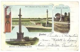Cpa Précurseur Canada - Québec - Monument To The Braves .... ( Timbre Taxe ) - Quebec