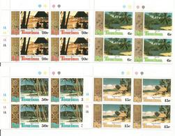 Les Plages Des îles FIDJI.  4 Blocs De 4 Neufs ** Bord De Feuille, Côte 15,00 Euro - Fidji (1970-...)
