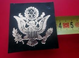 AIGLE Américain États-Unis Tête Blanche Tenant Rameau D'olivier Écusson Blason Tissu Feutrine Brodé-Crest Coat Of Arms - Patches