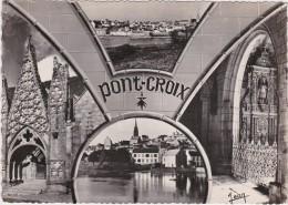 Br - Cpsm Grand Format PONT CROIX (Finistère) Rivière Et La Ville, Eglise ND De Roscudon - Pont-Croix