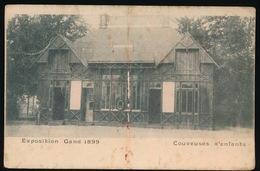 GENT  ( BESCHADIGING ELASTIEK ) EXPOSITION GAND 1899  COUVEUSES D'ENFANT - Gent
