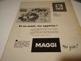 ANCIENNE PUBLICITE POTAGE  DE  MAGGI 1955 - Posters