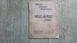 Catalogue Siegel Et Hommey Paris Vitrines étalages Accessoires Illustré - Do-it-yourself / Technical