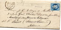 Lettre Année 1874, De Pagolle (64) Pour Saône Et Loire Redirigée Sur Paris (cf Scans) - 1849-1876: Klassieke Periode