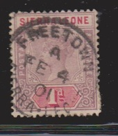 SIERRA LEONE Scott # 35 Used - Queen Victoria - Sierra Leone (...-1960)