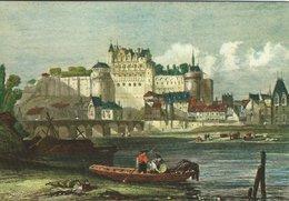 Painting: Autrefois. Les Chateaux De La Loire  Amboise. Sent To Denmark 1984.  # 07917 - Paintings
