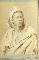 ALGERIE - Berger  KABYLE  - Carte CABINET - Photographe Jean GEISER - Circa 1880 - Afrique