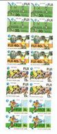 Le Sport Aux îles FIDJI. (Rugby,Football,haltères,tennis)  4 Blocs De 4 Neufs **  Côte 15,00 Euro - Fidji (1970-...)