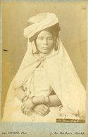 ALGERIE - Femme  KABYLE  - Carte CABINET - Photographe Jean GEISER - Circa 1880 - Afrique