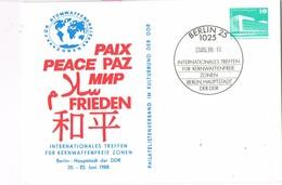 29669. Tarjeta BERLIN (Alemania Berlin) 1988. PAZ, Peace, International Treffen, Nuclear - [5] Berlin