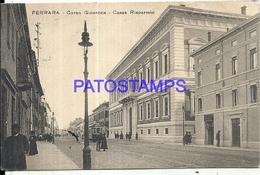 97965 ITALY FERRARA STREET GIOVECCA HOUSE RISPARMIO TRAMWAY CIRCULATED TO ARGENTINA POSTAL POSTCARD - Non Classificati