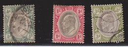 TRANSVAAL Scott # 252, 253, 256 Used - KEVII - Transvaal (1870-1909)