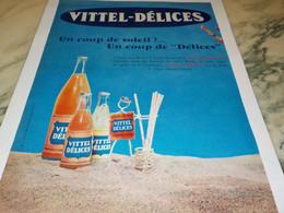 ANCIENNE PUBLICITE COUP DE SOLEIL MON VITTEL DELICE 1955 - Posters
