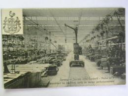 CP BELGIQUE - LIEGE - SERAING - Société John Cockerill - Atelier N° 1  Machines Outils (carte Décollée) - Seraing