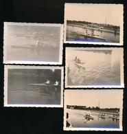 5 FOTO'S 9 X 6 CM  VAN ROEIEN - Aviron