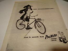 ANCIENNE PUBLICITE LIMONADE PSCHITT CUVEE 1955 - Affiches