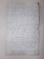 Manuscrit Concernant La Location D'un Bien ?? Situé à Lépange Vosges Du 23 Avril 1817 - Manuscrits