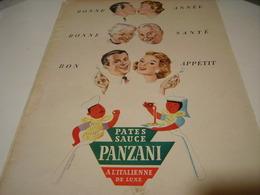 ANCIENNE PUBLICITE PATES ALIMENTAIRE PASTA  PANZANI 1955 - Posters